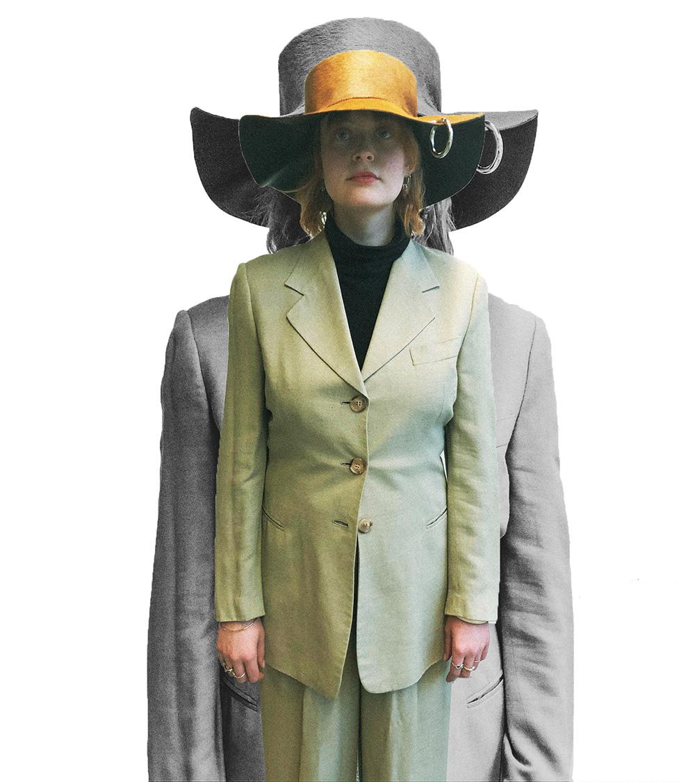 handmade leather hat