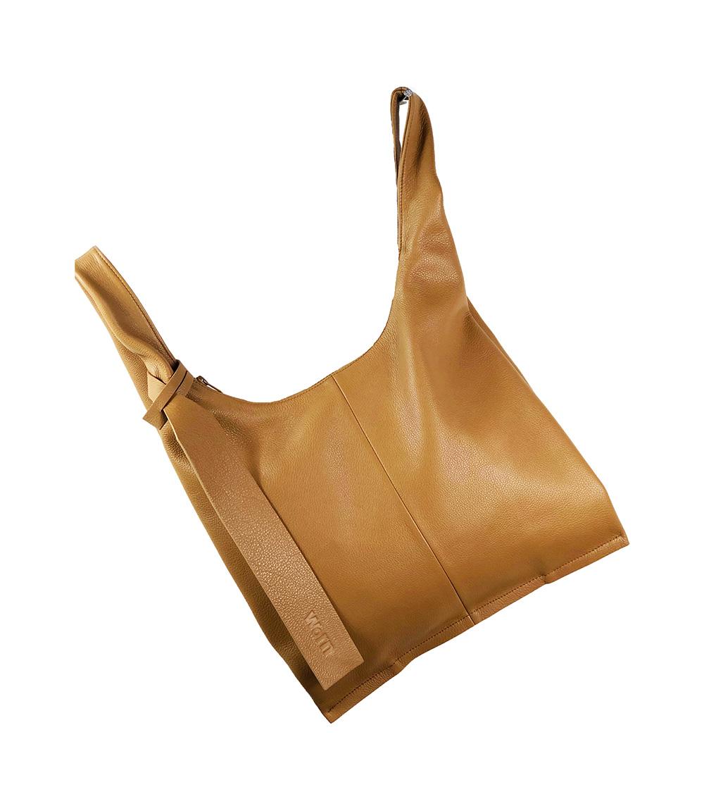 camel handmade leather bag