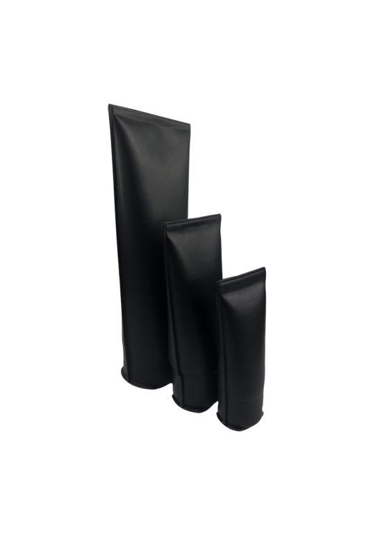 handmade leather beauty tubes